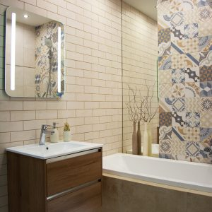 Inšpirácia kúpeľne č. 4, dizajn Patchwork