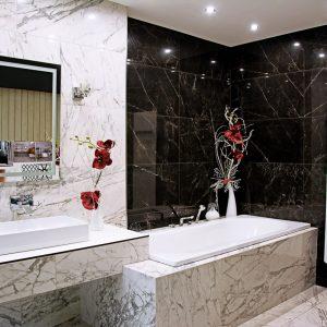 Kúpeľne, dizajn Mramor