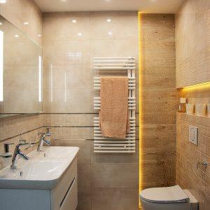 Inšpirácia kúpeľne č. 58, dizajn Drevo