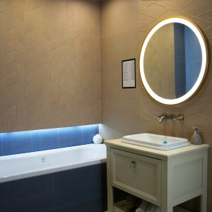 Kúpeľne, dizajn Textil