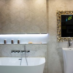 Kúpeľne, dizajn Cement
