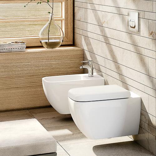 Závesné WC misy a bidety